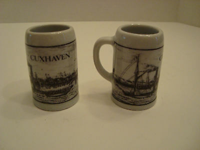Pair of Small Altenkunstadt Cixhaven Mugs From Germany