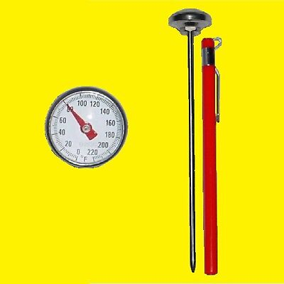 Pocket Probe Thermometer HVAC A/C Air Duct, Food, Magnifying,User Recalibratable