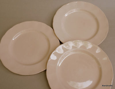 """Grindley England Peach Petal 8"""" Salad Plate x 3 Petalware 1950s as is blemishes"""