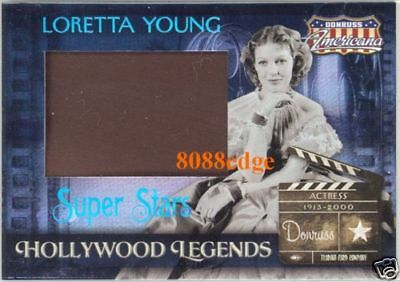 2007 Americana Super Stars Jumbo Swatch: Loretta Young #12/25 Hollywood Legend
