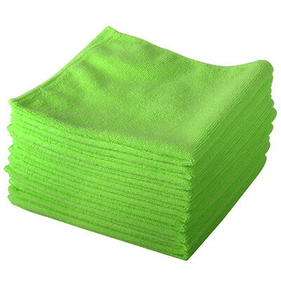 10 x Microfibre Duster Cleaning Cloth Polishing Waxing Professional Lint Free
