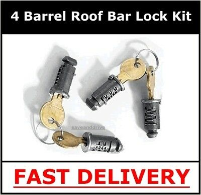 404u & 404UL Mont Blanc Roof Bar Lock Kit Locks 501
