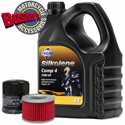 Piaggio 400 MP3 -09 Silkolene Comp 4Litre Oil & Filter