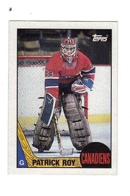 1987 Topps Patrick Roy  Canadiens   Avalanche   # 163