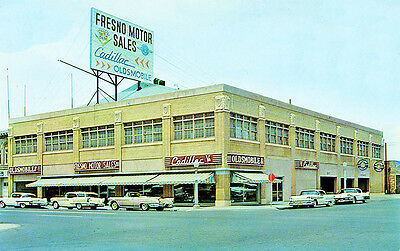 Fresno CA Cadillac Olds Car Dealership located at 700 Van Ness Avenue Photograph