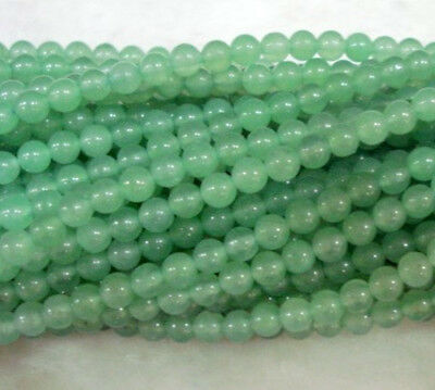 """Natural 4MM Greed Emerald Round Loose Bead Gem 15"""""""