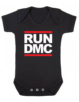 RUN DMC LOGO - RAP HIP HOP MUSIC - Baby Grow Bodysuit