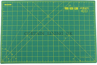 "OLFA Self Healing Fabric Paper Cutting Mat 12"" x 18"" Green Professional RM-IC-C"