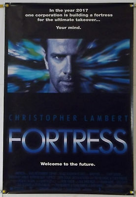 Fortress Rolled Orig 1Sh Movie Poster Christopher Lambert (1993)
