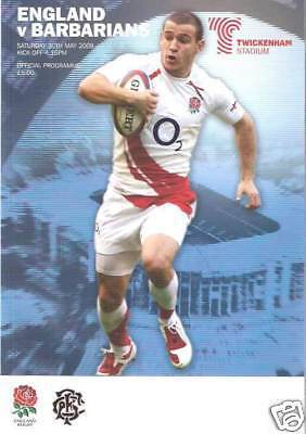 ENGLAND v BARBARIANS 2009 RUGBY PROGRAMME