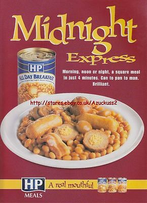 "HP All Day Breakfast ""Midnight Express"" 2000 Mag Advert #1686"