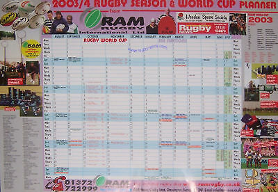 2003/4 Season And Rwc Planner Rugby Poster By Ram