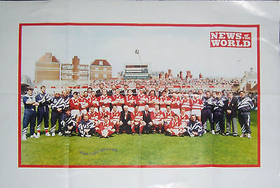 Llanelli Pre Cup Final Rugby Team Poster 1993