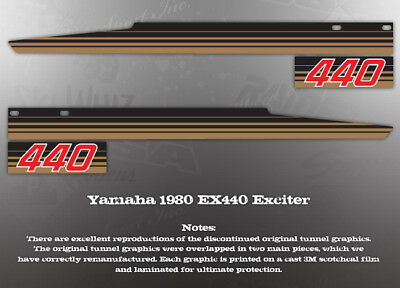 Yamaha Exciter 440 Ex440 Tunnel Decal Graphic Set