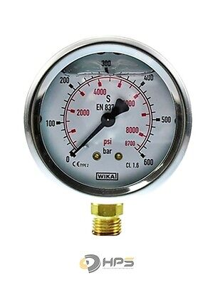 "Glyzerin-Manometer Crni-S 0 Bis 600 Bar 1/4"" Ua 63 Mm"