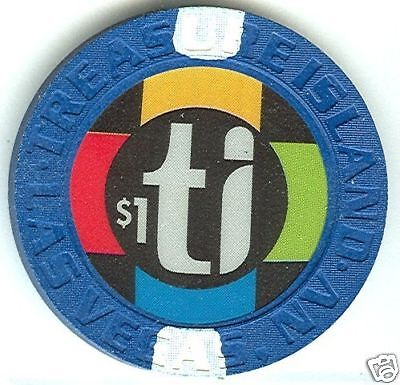 Treasure Island Ti Casino Lv $1 Chip (Su) E2810