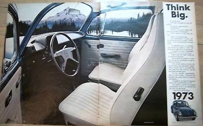 1973 Two Page Volkswagen VW  Car Think Big Ad