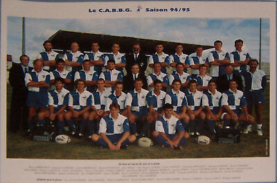 Begles French Rugby Team Poster 1994-95