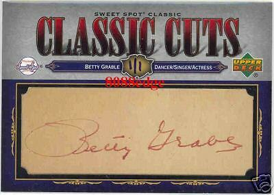 2007 SWEET SPOT CLASSIC CUTS AUTOGRAPH AUTO: BETTY GRABLE #1/1