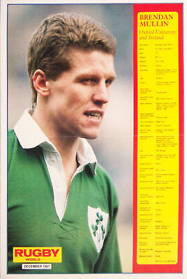 Brendan Mullin Ireland Rugby Poster Profile Series
