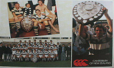 Canterbury - Auckland Nz Ranfurly Shield Rugby Poster