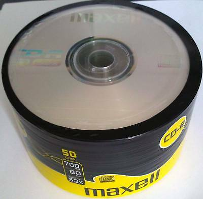 50 Maxell CD-R 80MIN 700MB 52x Compact Disc Recordable