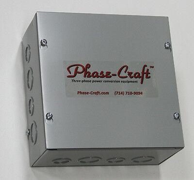 2-10 HP TRIPLE-RANGE STATIC PHASE CONVERTER... NEW COMPACT 8x8x4 SIZE!