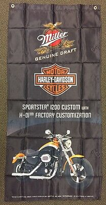 Harley Davidson Miller GD Flag Banner - Sportster I200 Custom - Orange