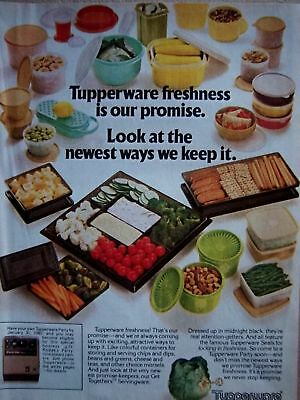 1980 Tupperware Bowls Freshness is our Promise Ad
