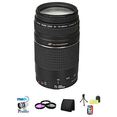 Canon Zoom EF 75-300mm USM III Lens &Filters NEW 75-300