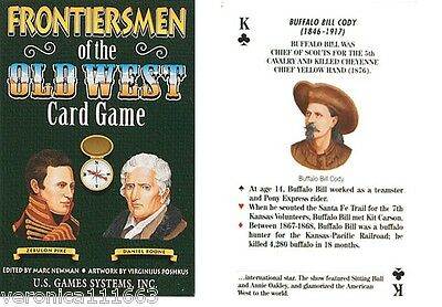 Frontiersmen of the Old West New 54 Poker Playing Card Biographies Buffalo Bill