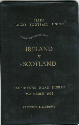IRELAND v SCOTLAND 1974 SPECIAL EDITION RUGBY PROGRAMME