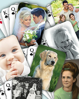 Personalised Playing Cards with own photo FREE P&P plastic box included & wrap