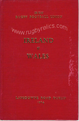 IRELAND v WALES 1964 SPECIAL EDITION RUGBY PROGRAMME