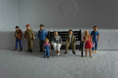 VFb-8x Model Trains Layout 1:87 HO Painted Figures