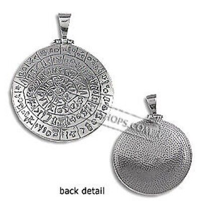 Sterling Silver Pendant - Phaistos Disk (40mm)