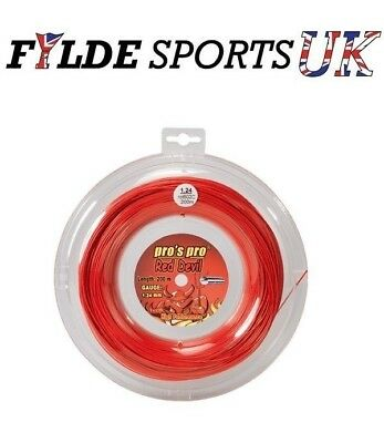 Pro's Pro Red Devil Tennis String 1.24mm 200m Red