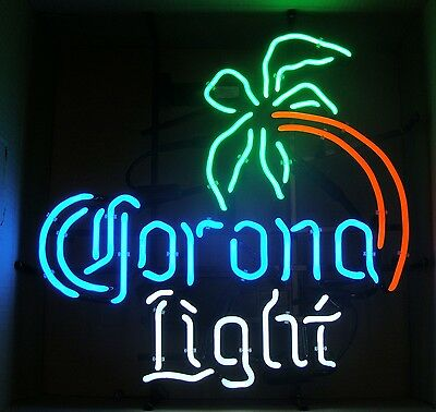 "Corona Light Palm Tree 4 Color 21"" X 21"" Neon Sign New"