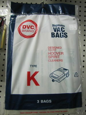 Hoover Spirit Canister Style K Vacuum Cleaner Bags
