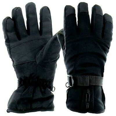 BREATHABLE WATERPROOF WINDPROOF GLOVES Mens Small Black Heavy duty Banff Winter