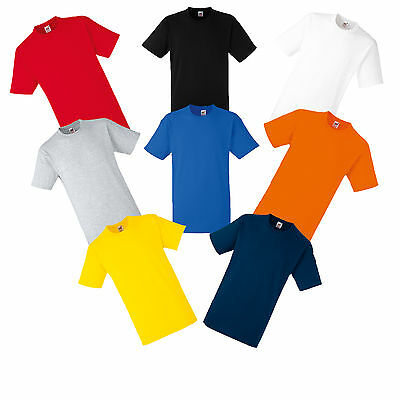 Fruit Of The Loom Heavy Cotton T Shirt Xxxl 3Xl -Black, White, Red, Blue, Grey