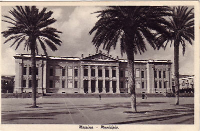 Cartolina d'epoca - MESSINA - MUNICIPIO
