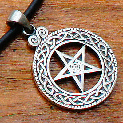 Celtic knot Pentagram Pentacle Star Talisman Pagan Wicca Paganism Pewter Pendant