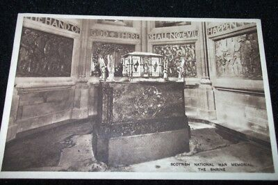 Old Postcard-Scottish National War Memorial, The Shrine
