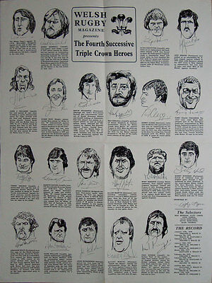 Welsh Rugby Magazine Rugby Poster