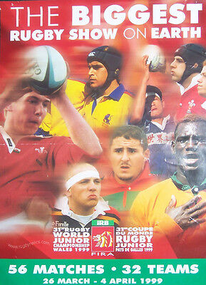World Junior Championships In Wales 1999 Rugby Poster