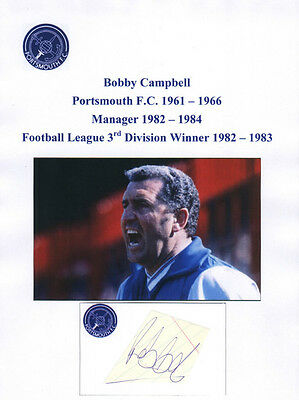 Bobby Campbell Portsmouth Manager 1982-84 Rare Original Hand Signed Cutting