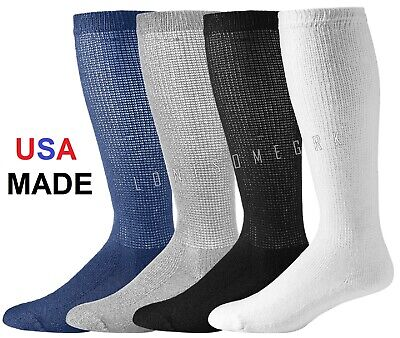 12 Pairs Physicians Choice OVER THE CALF/ Knee High American Made Diabetic Socks