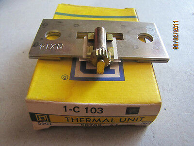 New Square D C103 Overload Relay Thermal Unit Nx14