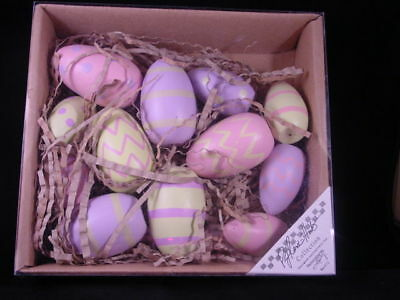 Wood Decorated Eggs 12pc bowl fillers NEW pastel  Primitives by Kathy 14911 NEW
